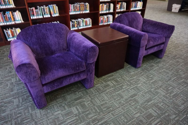 League City Library chairs upholstered by 5 Star Upholstery