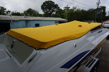 Yellow Fountain Boat Cover