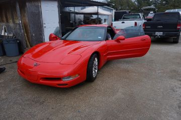 Red Pleated Vette