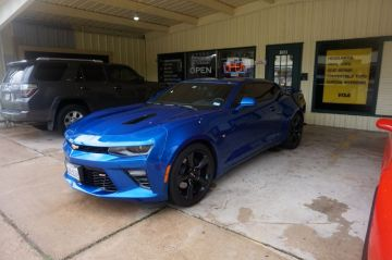 SS Camaro Blue Stitch Custom