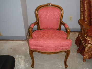 Antique Chair reupholstered by 5 Star Upholstery in League City, TX