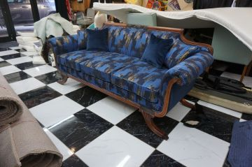 Antique Couch Rebuilt and Modern