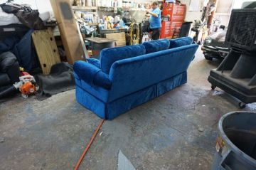 Blue Chenille Couch_2
