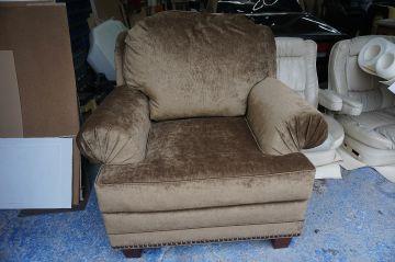 Chenille Chair/Ottoman_1