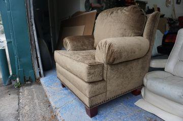 Chenille Chair/Ottoman_2