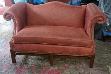 Leather Loveseat_1
