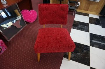 Red Microfiber Chair _1