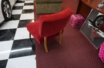 Red Microfiber Chair _2