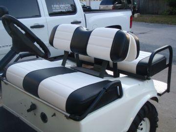 Black & White Golf Cart
