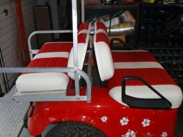 Red & White Cart - Looking Cool !!